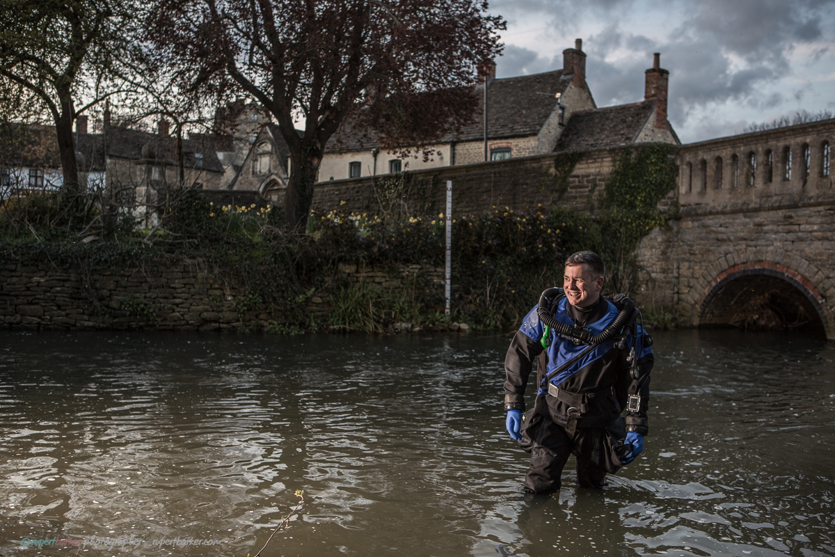 Drysuit Diving in Malmesbury Town Bridge Silk Mills Gareth