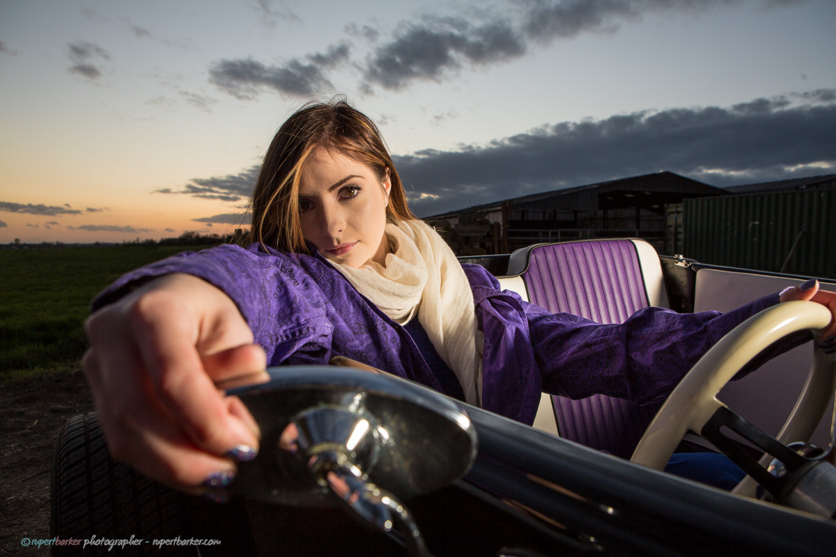 Girl Puple Paisley Hotrod Ford Prince tribute
