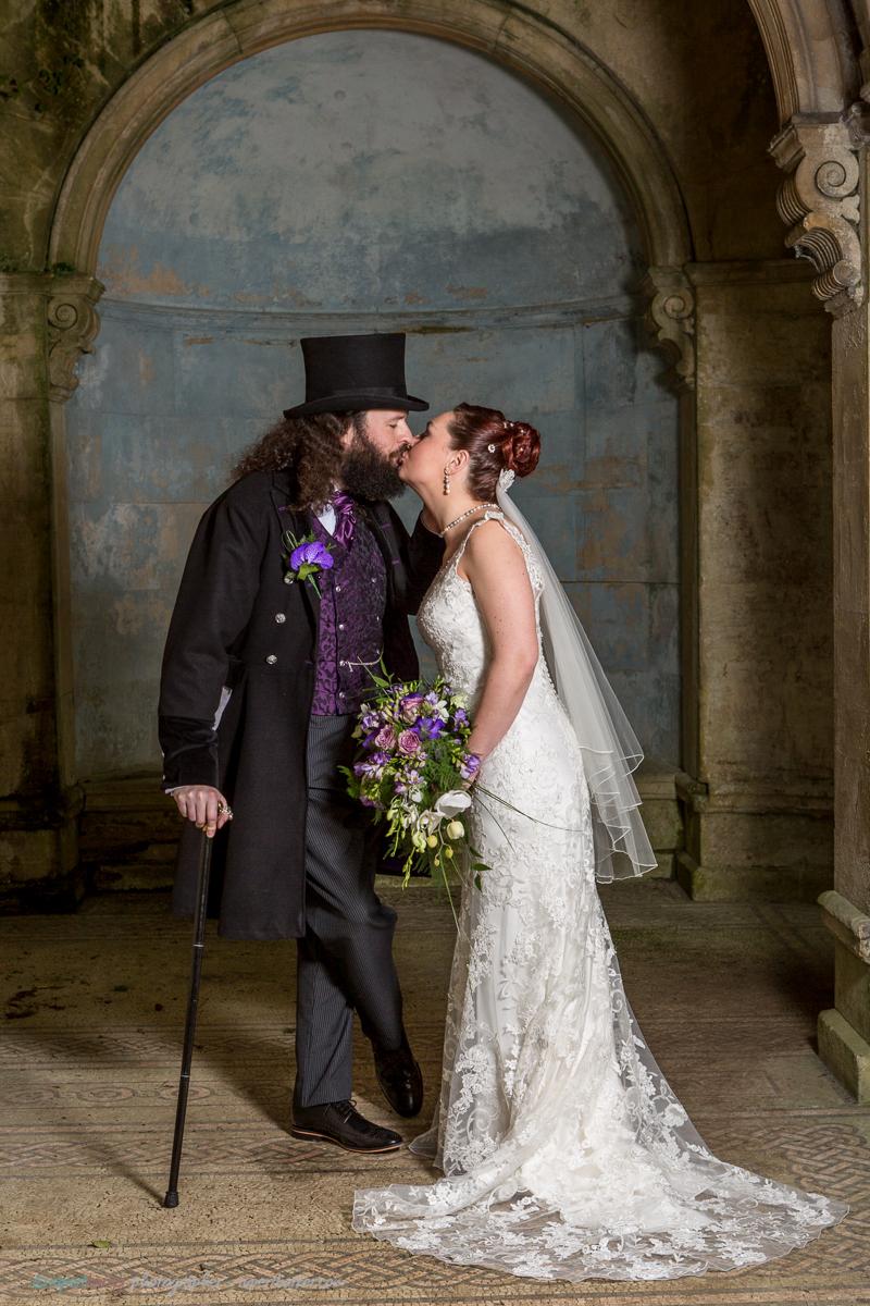 Roy and Xen Couple Westonbirt Wedding Portrait