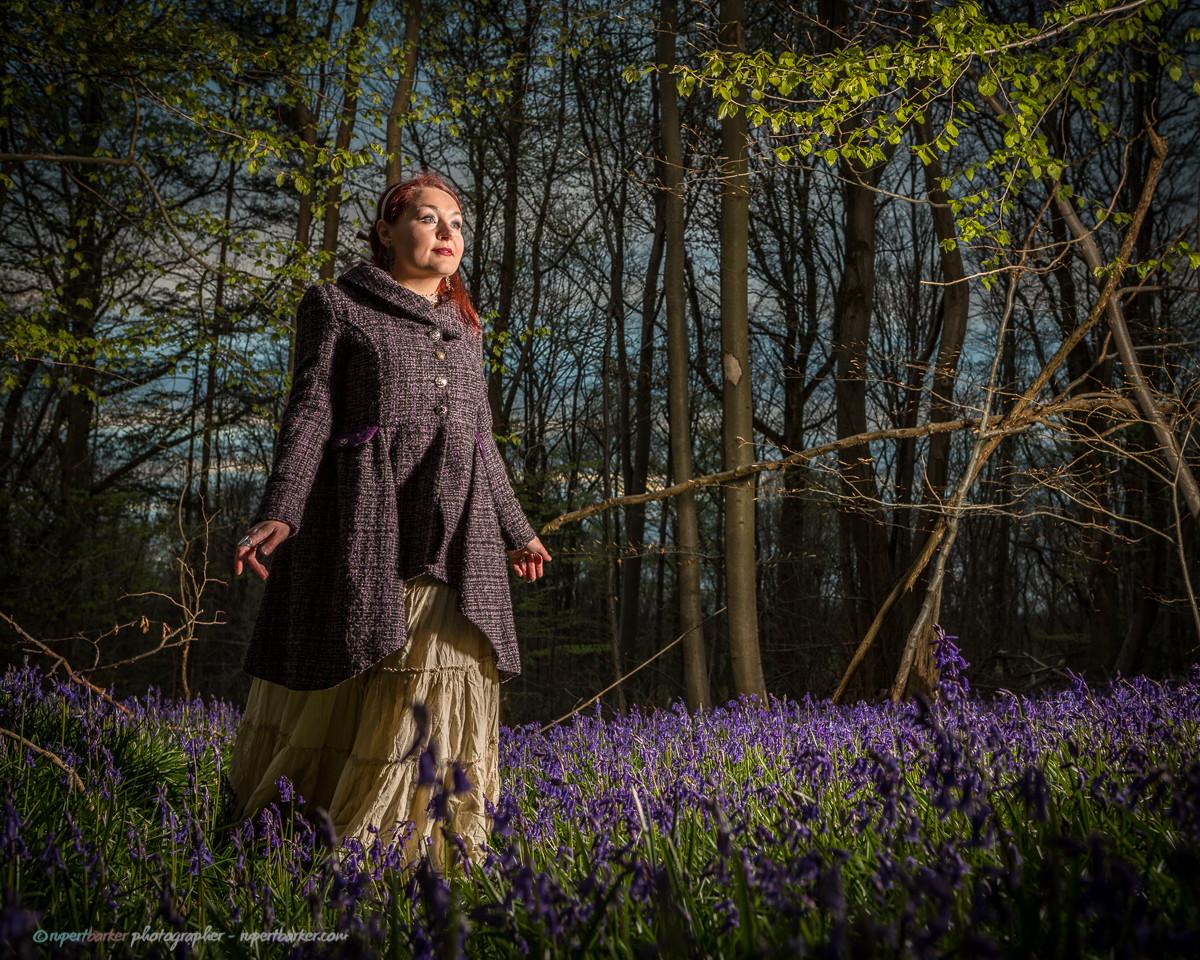 Bellydance portrait bluebells wood purple smoke russian princess