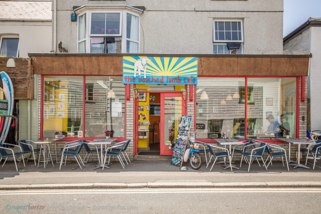 The Beached Lamb Cafe Newquay milkshakes family bright colours
