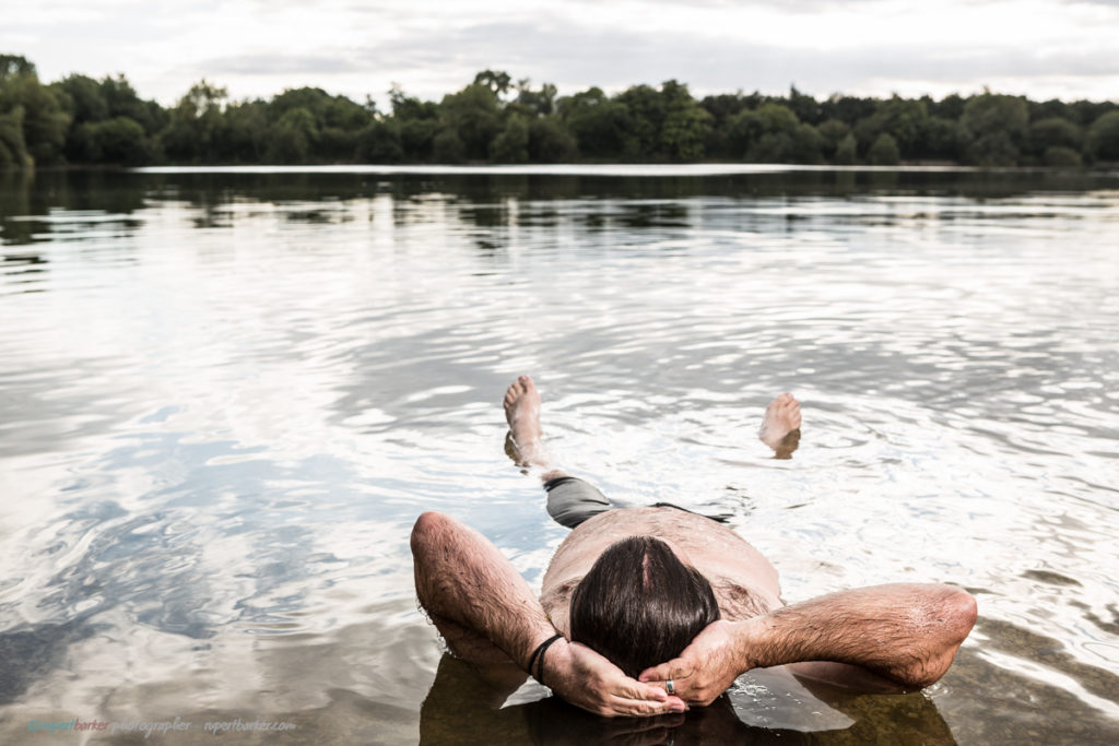 Andy swimming channel lake swim cotswold water park