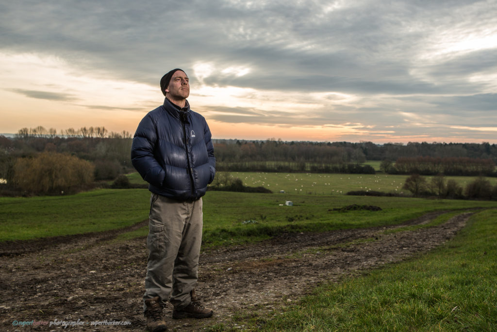 Martin tree surgeon wiltshire sunset portraits