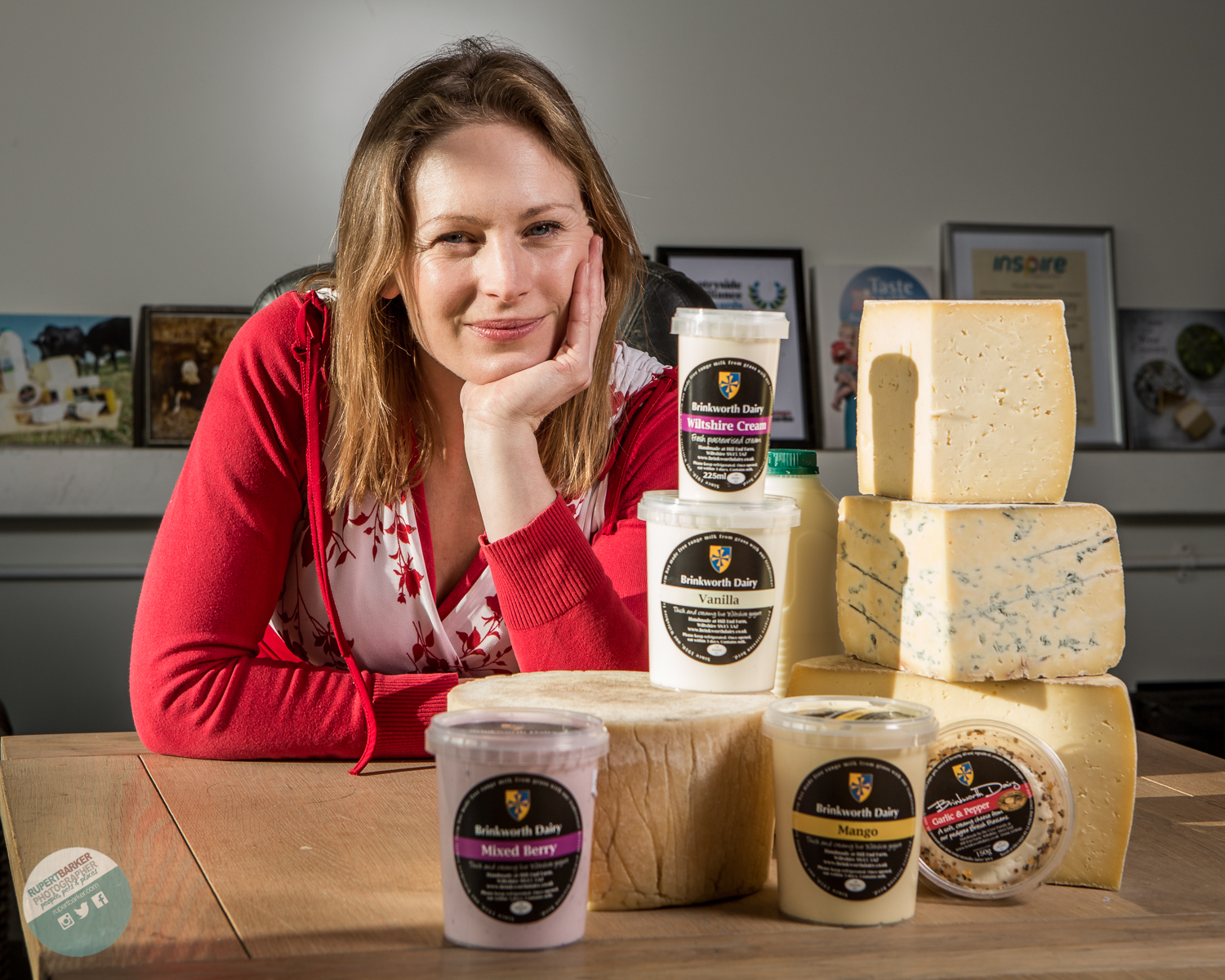 portrait Ceri Brinkworth Dairy Wiltshire cheese photography