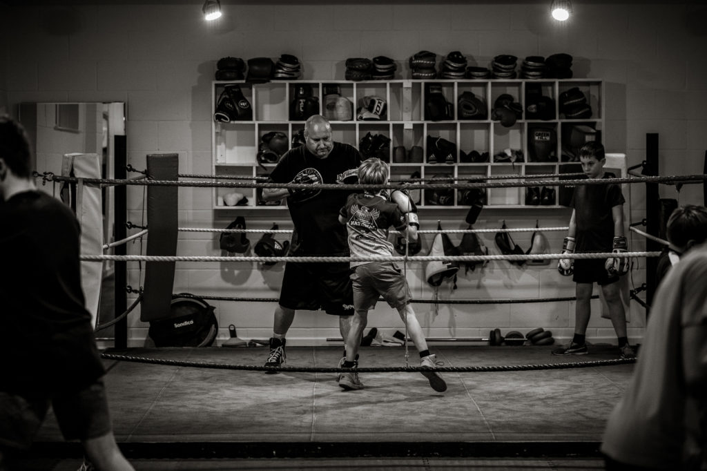 black and white images community project clubs Malmesbury Amateur Boxing Club